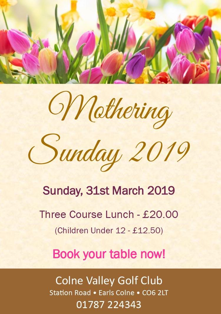 Mothering Sunday 2019
