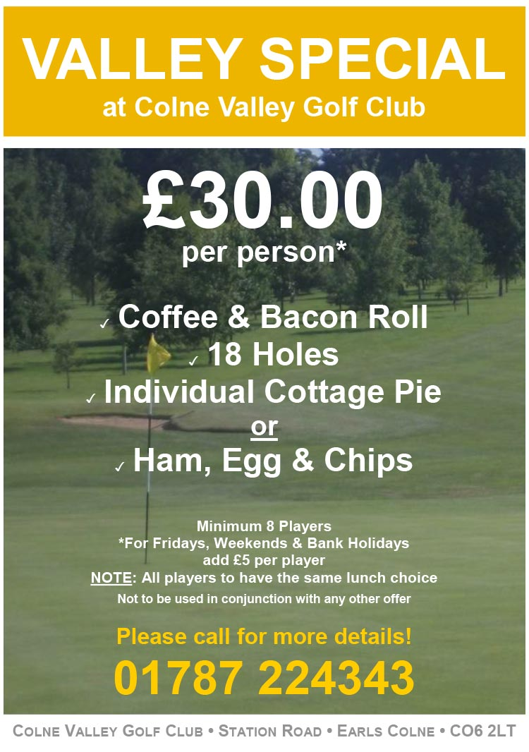Colne Valley Golf Club - Special Offers - Valley Special