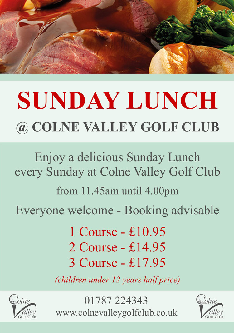 Sunday Lunch at Colne Valley Golf Club