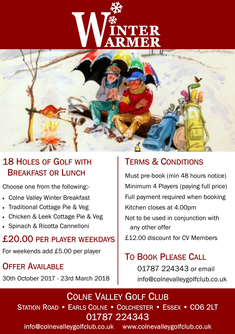 Winter Warmer 2017 - Colne Valley Golf Club