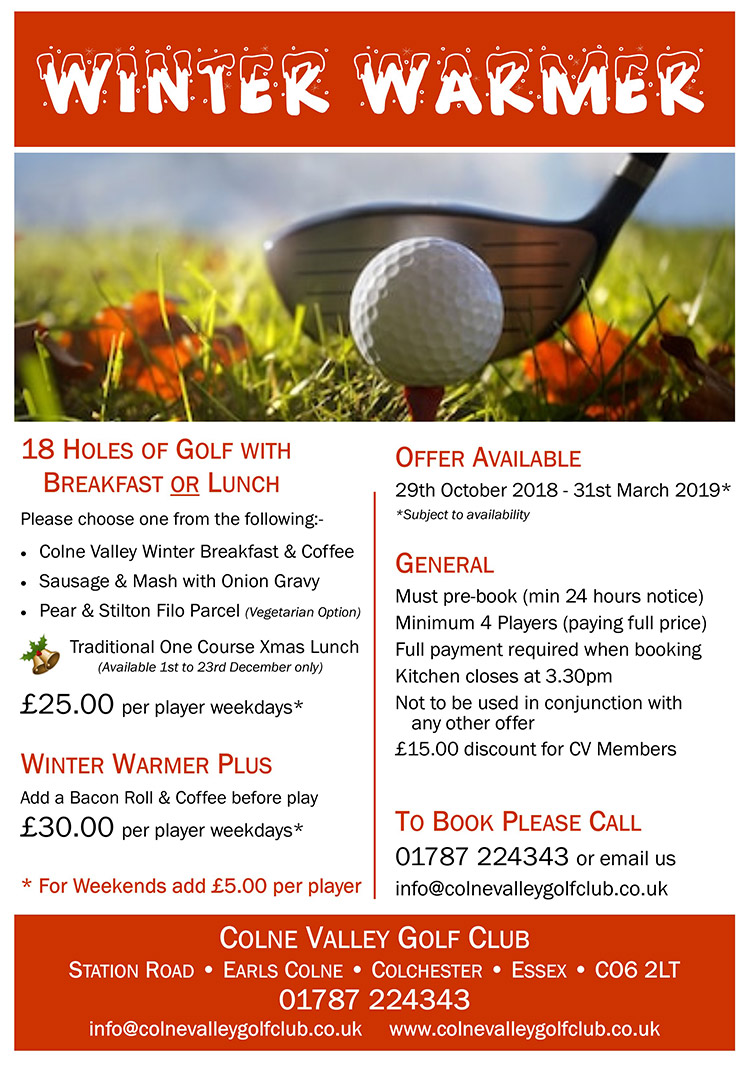 Winter Warmer 2018 - Colne Valley Golf Club