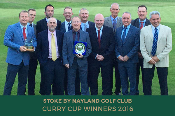 Colne Valley Golf Club - Curry Cup Winners 2016