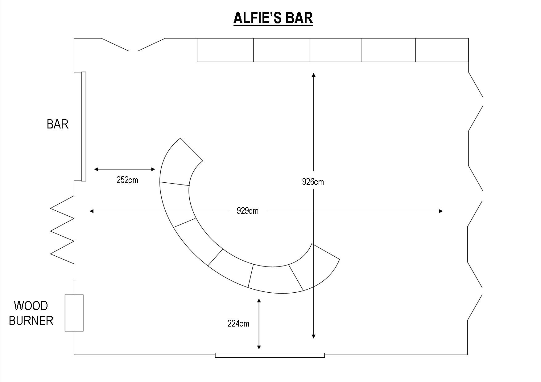 Alfie's Bar at Colne Valley Golf Club