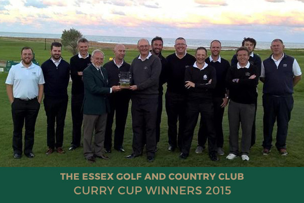 Colne Valley Golf Club - Curry Cup Winners 2015