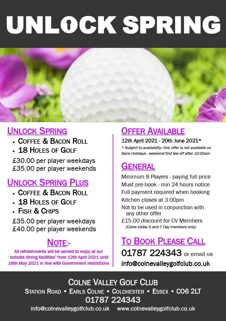 Unlock Sping - Colne Valley Golf Club